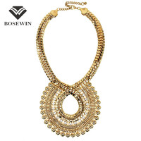 Fashion Necklaces For Women 2014 New Statement Design Chokers Rhinestones Chunky Gold Chain Big Pendants Necklaces CE2585