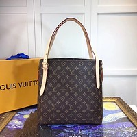 LV Louis Vuitton MONOGRAM LEATHER TOTE BAG