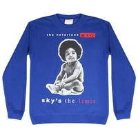 The Notorious B.I.G. Sky's The Limit Biggie Childhood Men's Casual Blue T-shirt