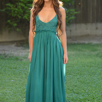 Ancient Rome Dress - Jade