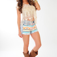 RESTOCK: Floating On Lace Top: Cream