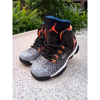 Nike Air Jordan 31 XXXI Black White Orange Kid Basketball Shoes for Youth Boys and Child