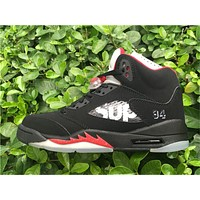 Air Jordan 5 Retro SUP Black Red Sneaker 36-47