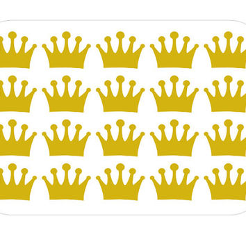 Crown Nail Decals - Vinyl, Custom Choice of Color