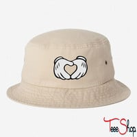 Mickey Mouse Hand Heart  BUCKET HAT