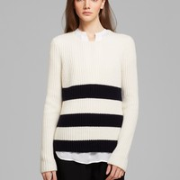 Vince Sweater - Ribbed Stripe
