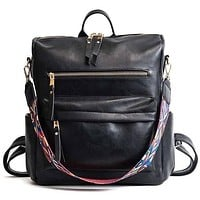 Hailey Convertible Backpack - Black