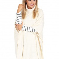 In A Crowded Room Poncho in Ivory   Monday Dress Boutique
