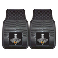 Chicago Blackhawks 2015 NHL Stanley Cup Champions Heavy Duty 2-Piece Vinyl Car Mats (18x27)