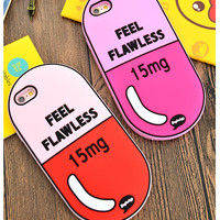 3D Love Potion Chill Pills Bottle Silicone Case for iPhone 6 6S 6 Plus 6S Plus Phone Cover