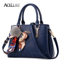 ACELURE Luxury Handbags Fur Women Bags Patchwork 2017 Fashion Casual Tote Sweet Ladies Crossbody Bag Ribbon Women Messenger Bags