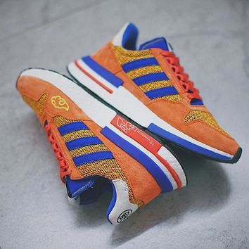 "Dragon Ball Z x Adidas ZX500 RM Boost ""SON GOKU""ZX500 Running Shoes D97046"