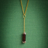 Delicate Amber Y Necklace - Free Shipping!