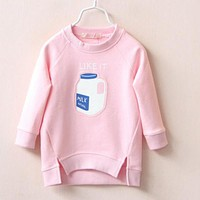 2-6 Ages  Kids Baby Girl Pullovers Autumn Winter Long Sleeve Sweatshirt For Girls Hoodies Coats