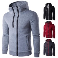 Zippers Hats Winter Stylish Men's Fashion Casual Hoodies [10669404355]