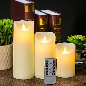 LED Flameless Candles Light with Timer Remote Control