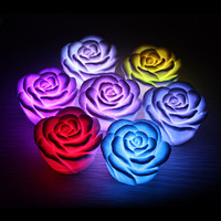 LED Romantic Rose Flower Color Changing Night Lamp