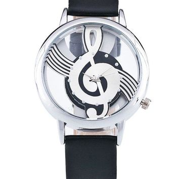Musical Note Face Analog Watch