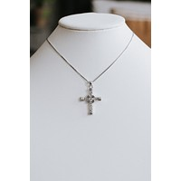 Rhinestone X & Stone Middle Cross