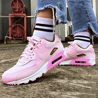 NIKE Air Max 90 Women Casual Running Sneakers Sport Shoes(Pink&Green)