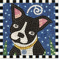 Boston Terrier Dog Mosaic