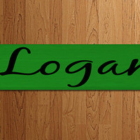 Track Sign Personalized Sports Baseball Basketball Soccer - Kids Room Decor/Gift - Wooden Sign