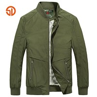 High Quality Thin Spring Army Green Military Motorcycle Flight Jacket Pilot Air Force Men Bomber Jacket