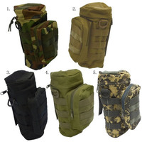Outdoor Sport Tactical Gear Nylon Molle Zipper Camo Large Water Bottle Bag Kettle Pack w/ Utility Medic Small Mess Pouch [10198321223]