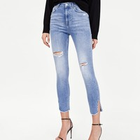 SKINNY JEANS WITH SIDE VENTSDETAILS