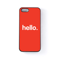 Hello Black Hard Plastic Case for Apple iPhone 5 / 5s by textGuy