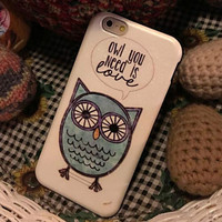 Cute Owl Case Cover for iphone 6 6s Plus