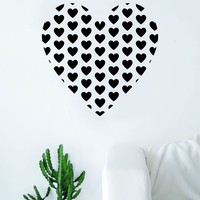 Heart full of Hearts Wall Decal Sticker Room Art Vinyl Beautiful Decor Home Decoration Bedroom Marriage Love