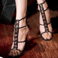 The new hot - selling high - heeled Roman spike sandals