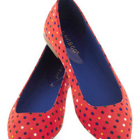 Both Feet on the Playground Flats in Dots | Mod Retro Vintage Flats | ModCloth.com