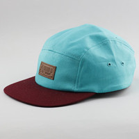 Entree Entree LSMaroon Brim Aqua 5 Panel Hat : Karmaloop.com - Global Concrete Culture