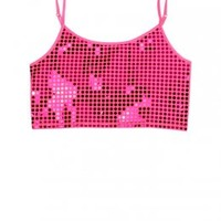 Sequin Dot Cropped Cami | Girls Camis Clothes | Shop Justice