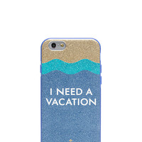 i need a vacation glitter iphone 6 case