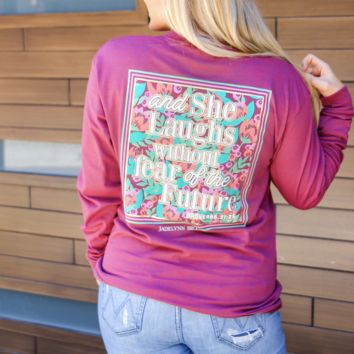 Jadelynn Brooke: Laughs Without Fear {Maroon Heather}
