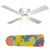 """Care Bears Clouds 42"""" Ceiling Fan and Lamp"""