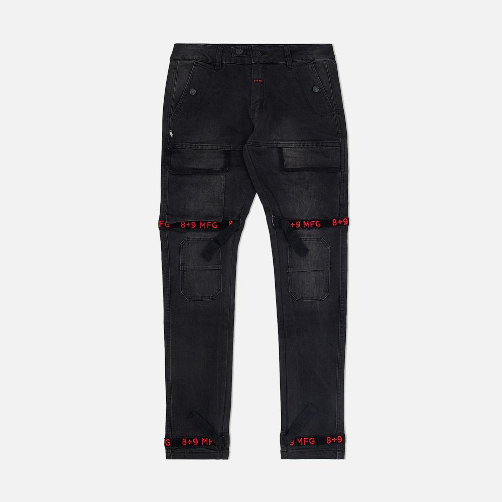 Image of Strapped Up Slim Utility Jeans Bred
