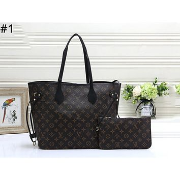 LV 2019 new women's large-capacity tote bag simple shoulder bag two-piece #1