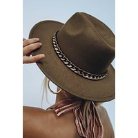 Patio Date Hat: Brown/Gold