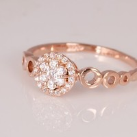 Fashion Plaza Women's Gift Simulated Engagement Ring R401