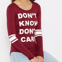Don't Know Don't Care Gridiron Tee