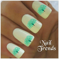 Tree Nail Decal. 20 Vinyl Stickers Nail Art