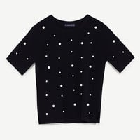 FAUX PEARL STUDDED TOP