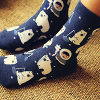 Cute Polar Bear & Eskimo Socks Set (2 pairs)