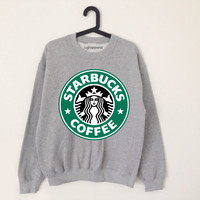 Starbucks grey sweater