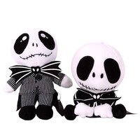 Nightmare Before Christmas Gifts Black Jack Skellington Plush New Year Doll Toy = 1946716996