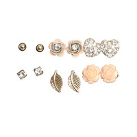 6 piece Flower Earring Set   Shop Jewelry at Wet Seal